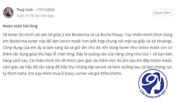 Đánh giá Nước hoa hồng Bioderma