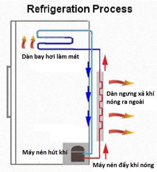 Nguyên lý hoạt động của chiếc tủ lạnh