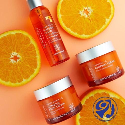 Andalou Renewal Cream Brightening Probiotic + C