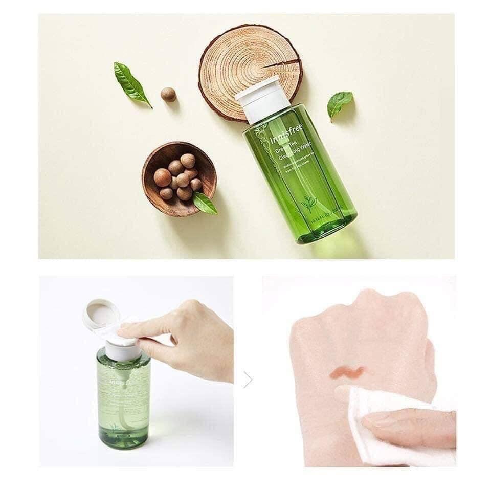 Nước tẩy trang trà xanh Innisfree green tea cleansing water - Cẩm Nang Phái Đẹp