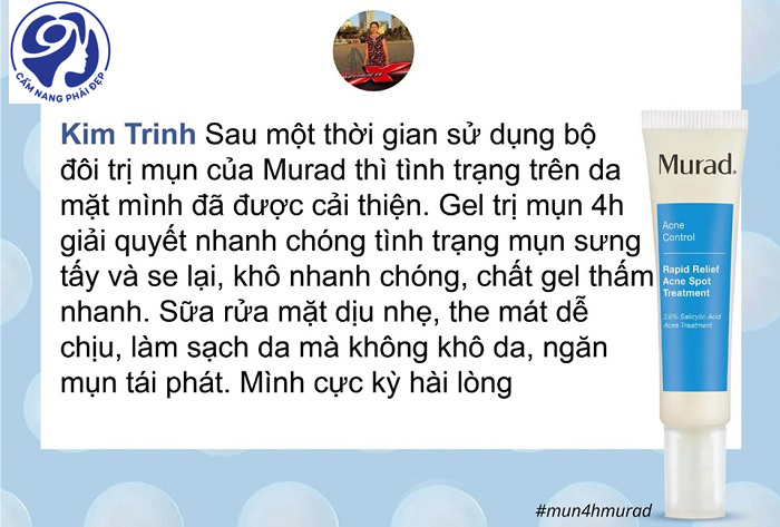 Phản hồi về kem trị mụn Murad