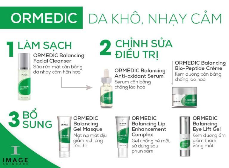 Các bước sử dụng bộ mỹ phẩm Ormedic